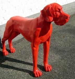 deense dog rood