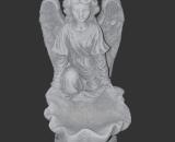 H794 engel geknield met schelp 44 cm