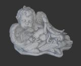 H803 engel liggend met konijn 27 cm