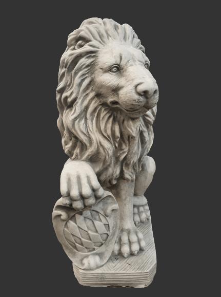 H957 leeuw kijkt rechts 54 cm